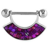 Mother Of Pearl Nipple Shield - Mosaic Purple