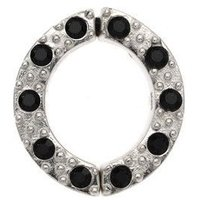 Non Piercing Sterling Silver Nipple Clamp - Black Jeweled