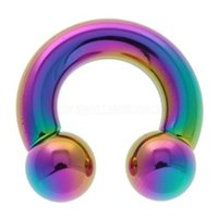 Rainbow Titanium Horseshoe Barbell