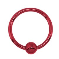 Red Surgical Steel Captive Bead Ring