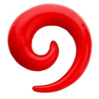 Red UV Spiral Ear Stretcher