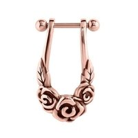 Rose Gold Cartilage Shield - Flowers