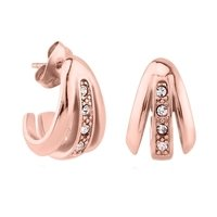Rose Gold Crystal Jeweled Ear Studs