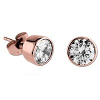 Rose Gold Crystal Jeweled Earrings