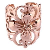 Rose Gold Flower Ear Cuff