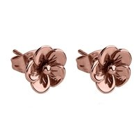 Rose Gold Flower Ear Studs