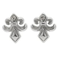 Stainless Steel & CZ Gothic Earrings