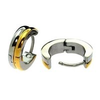 Stainless Steel Earrings - Gold Stripe
