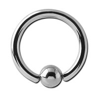 Steel Captive Bead Ring 16 ga