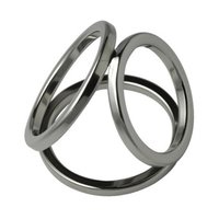 Steel Triple Cock Ring