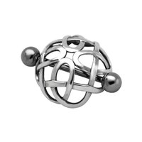 Surgical Steel and Silver Nipple Crown - Cage