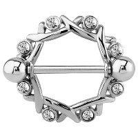 Surgical Steel Crystal Jeweled Nipple Shield