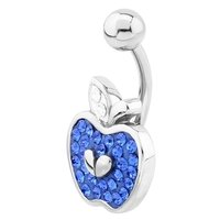 Surgical Steel Crystalline Jeweled  Belly Ring