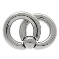 Surgical Steel Double Captive Bead Ring