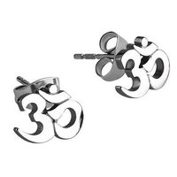 Surgical Steel Ear Studs - Om