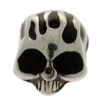 Surgical Steel Enamelled Threaded Skull - Black