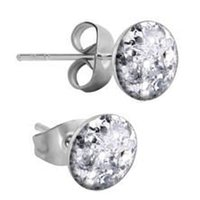 Surgical Steel Glitterline Ear Studs - Crystal