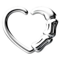 Surgical Steel Open Heart Continuous Ring - Claw