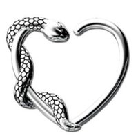 Surgical Steel Open Heart Continuous Ring - Right Snake
