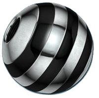 Threaded Tropical Ball - Black