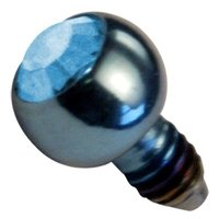 Titanium Internally Threaded Jeweled Balls - Light Blue