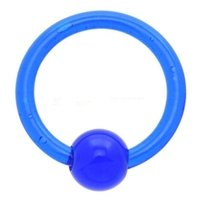 Ultra Violet Captive Bead Ring - Blue