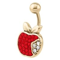 Zircon Gold Crystalline Jeweled  Belly Ring