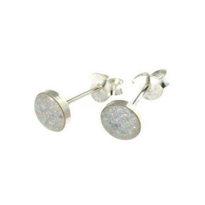 AB Glitter Stud Earrings