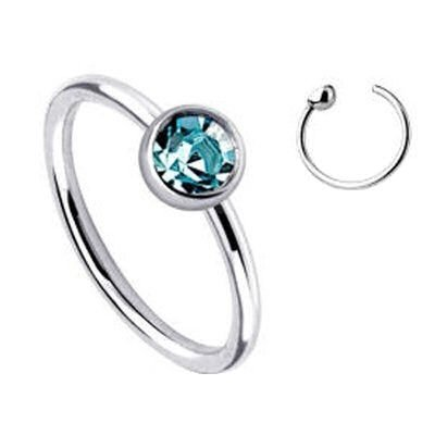Aqua Jewel Fake Nose Ring