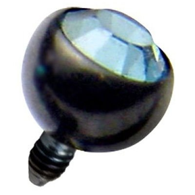 Blackline™ Jewelled Ball for Internally Threaded Jewellery - Light Blue