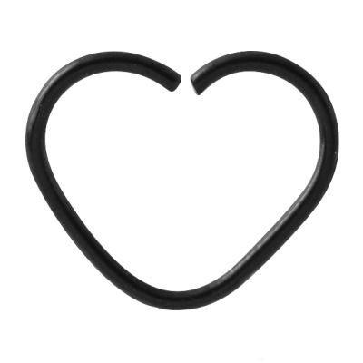 Blackline Open Heart Continuous Ring