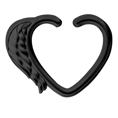 Blackline Open Heart Seamless Ring