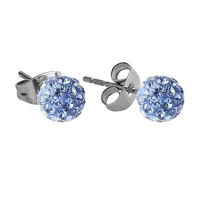 Crystalline Stud Earrings - Blue