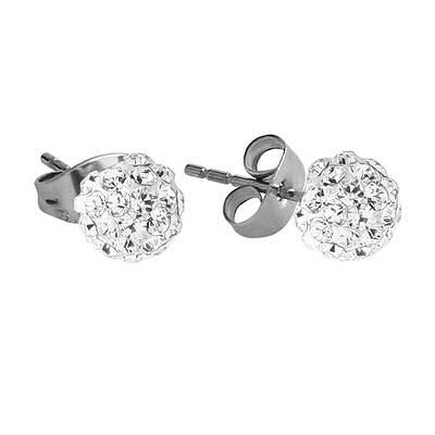 Crystalline Stud Earrings - Clear