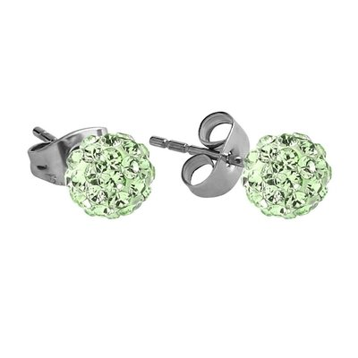 Crystalline Stud Earrings - Green