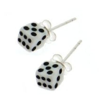 Earrings - Dice Clear