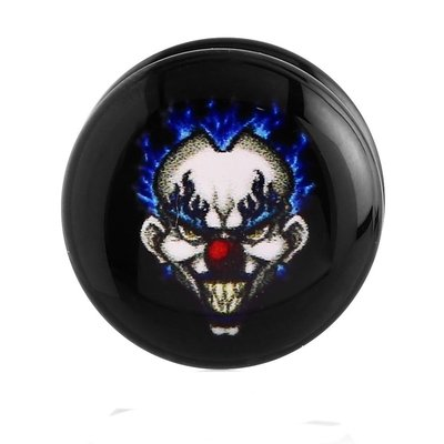 Fake Ear Plug - Evil Clown