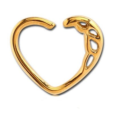 Gold Plated Open Heart Continuous Ring - Teardrops