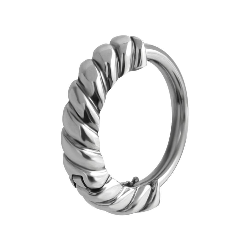 Huggy Steel Belly Button Ring Spiral
