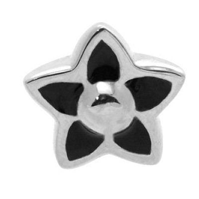 Internally Threaded Steel Flower - Black
