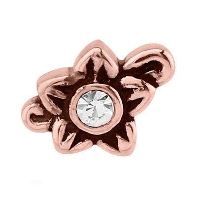 Rose Gold Jeweled Flower Threaded Attachment