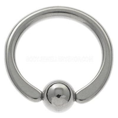 Surgical Steel Captive Bead Ring - Flat Ends