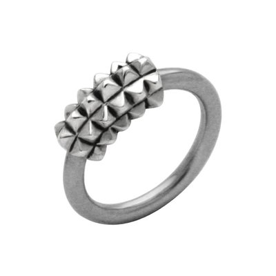 Surgical Steel Captive Bead Ring - Outward Studs