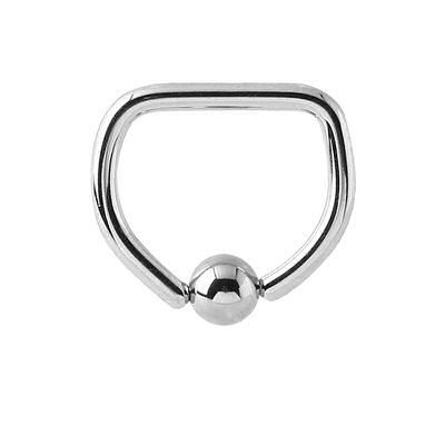 Surgical Steel Captive Bead Ring - D-Ring