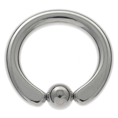 Surgical Steel Large Gauge Captive Bead Ring - Flat Ends