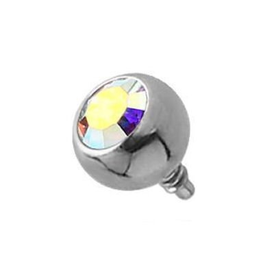 Surgical Steel Swarovski Jewelled Ball - Crystal AB