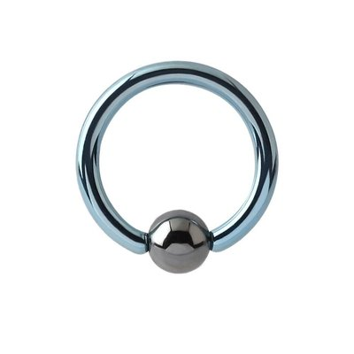 Titanium Captive Bead Ring - Light Blue