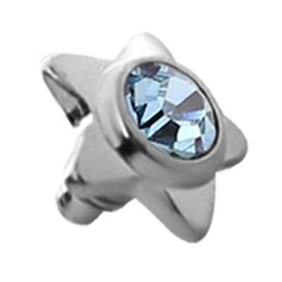 Titanium Internally Threaded Jewel Star - Blue